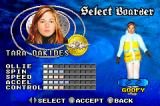 Shaun Palmer's Pro Snowboarder Game Boy Advance Selecting a boarder in career mode