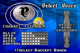 Shaun Palmer's Pro Snowboarder Game Boy Advance Choosing a board; new boards will be unlocked if you attract sponsors.