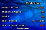 Shaun Palmer's Pro Snowboarder Game Boy Advance Level statistics