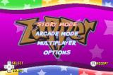 Zapper: One Wicked Cricket! Game Boy Advance Main menu