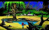 King's Quest V: Absence Makes the Heart Go Yonder! PC-98 Another wacky fantasy creature. A tree who is playing a harp. Maybe I should get a piano for her. Maybe she could swing, you know. Play Thelonious Monk or something