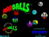 Madballs ZX Spectrum Splash Screen - displays briefly when tape starts to load xx