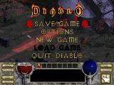 Diablo Macintosh In game save/options/exit menu