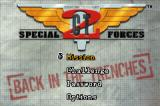 CT Special Forces: Back in the Trenches Game Boy Advance Main menu