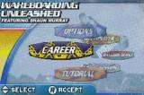 Wakeboarding Unleashed featuring Shaun Murray Game Boy Advance Main menu