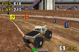 Monster Truck Madness Game Boy Advance The coloured squares are power-ups.