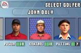 Tiger Woods PGA Tour 2004 Game Boy Advance Selecting a player in career mode
