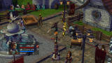 Vandal Hearts: Flames of Judgement Xbox 360 Combat in a town.