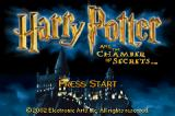 Harry Potter and the Chamber of Secrets Game Boy Advance Title screen