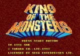 King of the Monsters Genesis Title