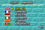 Roland Garros French Open 2002 Game Boy Advance Language selection