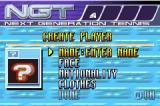NGT: Next Generation Tennis Game Boy Advance Creating a player in career mode