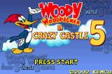 Woody Woodpecker in Crazy Castle 5 Game Boy Advance Title screen
