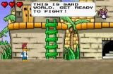 Woody Woodpecker in Crazy Castle 5 Game Boy Advance The fairy gives tutorial instructions