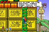 Woody Woodpecker in Crazy Castle 5 Game Boy Advance Climbing a ladder