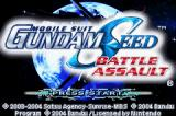 Mobile Suit Gundam Seed: Battle Assault Game Boy Advance Title screen