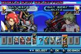 Mobile Suit Gundam Seed: Battle Assault Game Boy Advance Selecting a fighter
