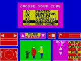 Nick Faldo Plays The Open ZX Spectrum Control setup menu. If keyboard is chosen the game prompts the player for the up / down / left / right & fire keys