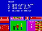 Nick Faldo Plays The Open ZX Spectrum Select the type of game required
