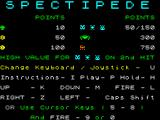 Spectipede ZX Spectrum ... and the score table
