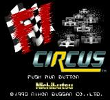 F1 Circus TurboGrafx-16 Title screen