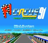 F1 Circus '91 TurboGrafx-16 Title screen