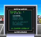 F1 Circus '91 TurboGrafx-16 Course menu