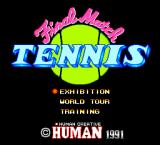 Final Match Tennis TurboGrafx-16 Title screen and main menu
