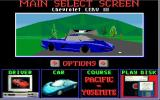 Test Drive III: The Passion DOS Main Screen