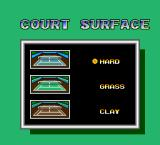 Final Match Tennis TurboGrafx-16 Selecting the surface for the training