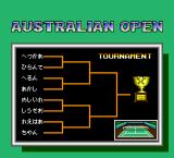 Final Match Tennis TurboGrafx-16 Tournament schedule