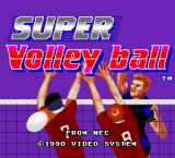 SUPER Volley ball TurboGrafx-16 Title screen