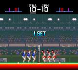 SUPER Volley ball TurboGrafx-16 First set