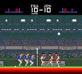 SUPER Volley ball TurboGrafx-16 Passing the ball