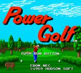 Power Golf TurboGrafx-16 Title screen