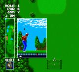 Power Golf TurboGrafx-16 Hitting the ball