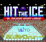 Hit the Ice: The Video Hockey League TurboGrafx-16 Title screen