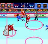 Hit the Ice: The Video Hockey League TurboGrafx-16 The players hit each other far more often than the puck.