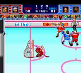 Hit the Ice: The Video Hockey League TurboGrafx-16 This game also has fighting sequences between two players as a mini game.