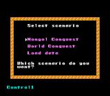 Genghis Khan NES Selecting scenario