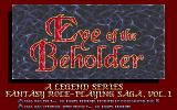 Eye of the Beholder PC-98 Title screen