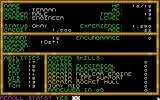 Buck Rogers: Countdown to Doomsday DOS Character creation: Standard AD&D protocol - Select race, class, reroll stats, distribute skill points, etc.