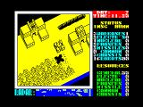 Nether Earth ZX Spectrum The blue minimap displays a portion of the warzone.