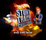 Hot Wheels: Stunt Track Challenge PlayStation 2 Title screen.
