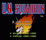 U.N. Squadron SNES Title screen