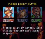 U.N. Squadron SNES Choose your character