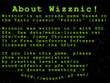 Wizznic! Windows About screen