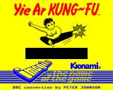 Yie Ar Kung-Fu BBC Micro Nice High resolution loading screen