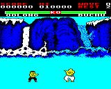 Yie Ar Kung-Fu BBC Micro Buchu, a big fella who flies through the air at you