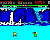 Yie Ar Kung-Fu BBC Micro Pole. Guess what he uses! Can be tough to pass as he can attack quite rapidly.